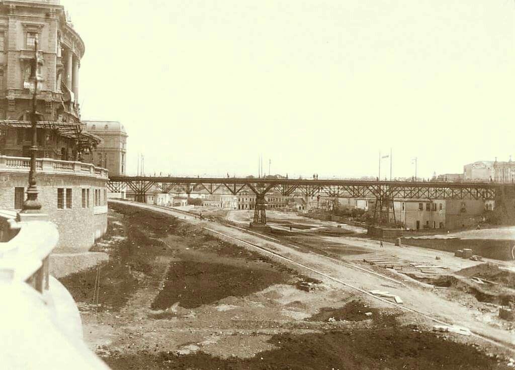 1916 Obras No Vale Do Anhangabau Ao Fundo O Antigo Viaduto Do