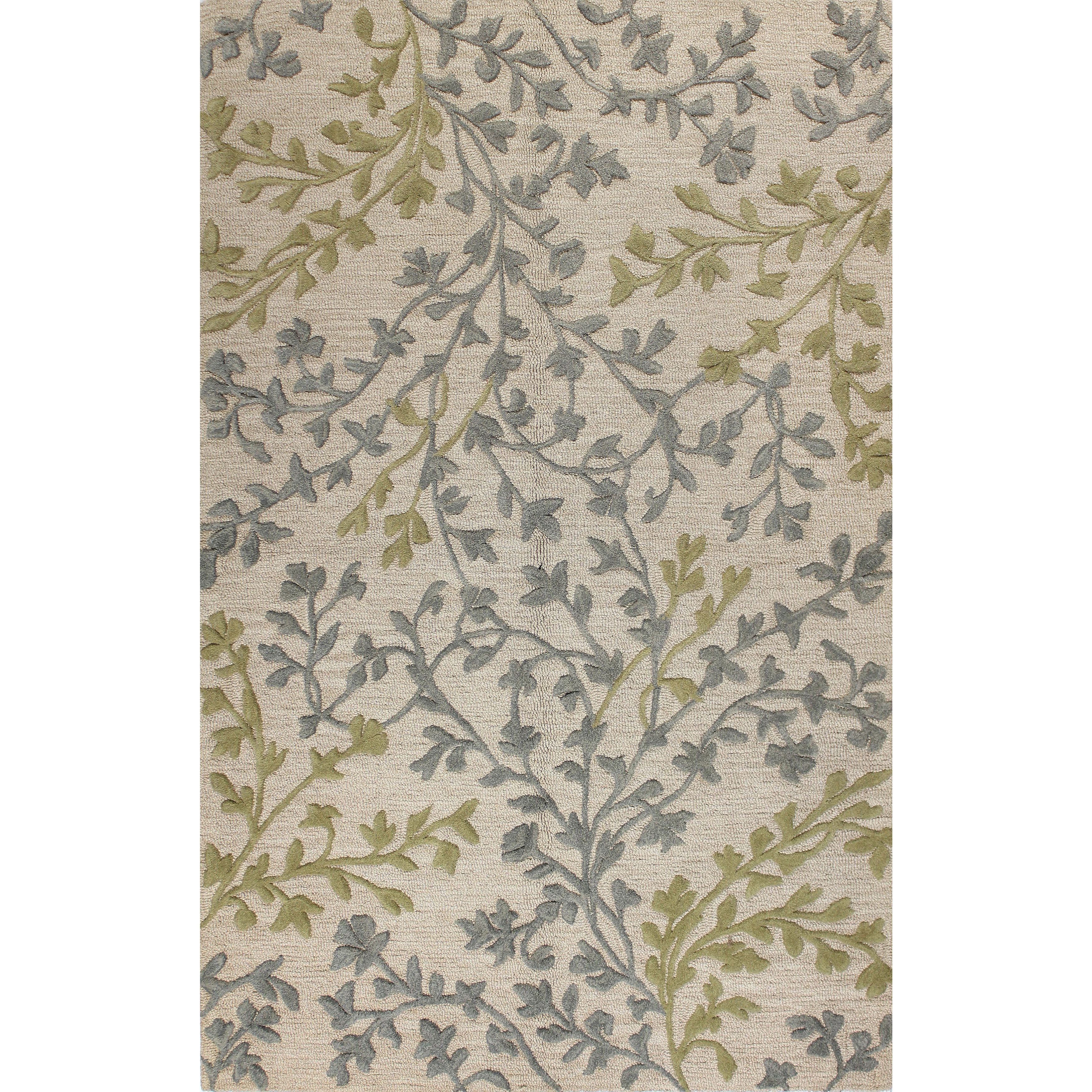 Christina Off White Beige Tufted Wool Area Rug 4 X 6 Ivory