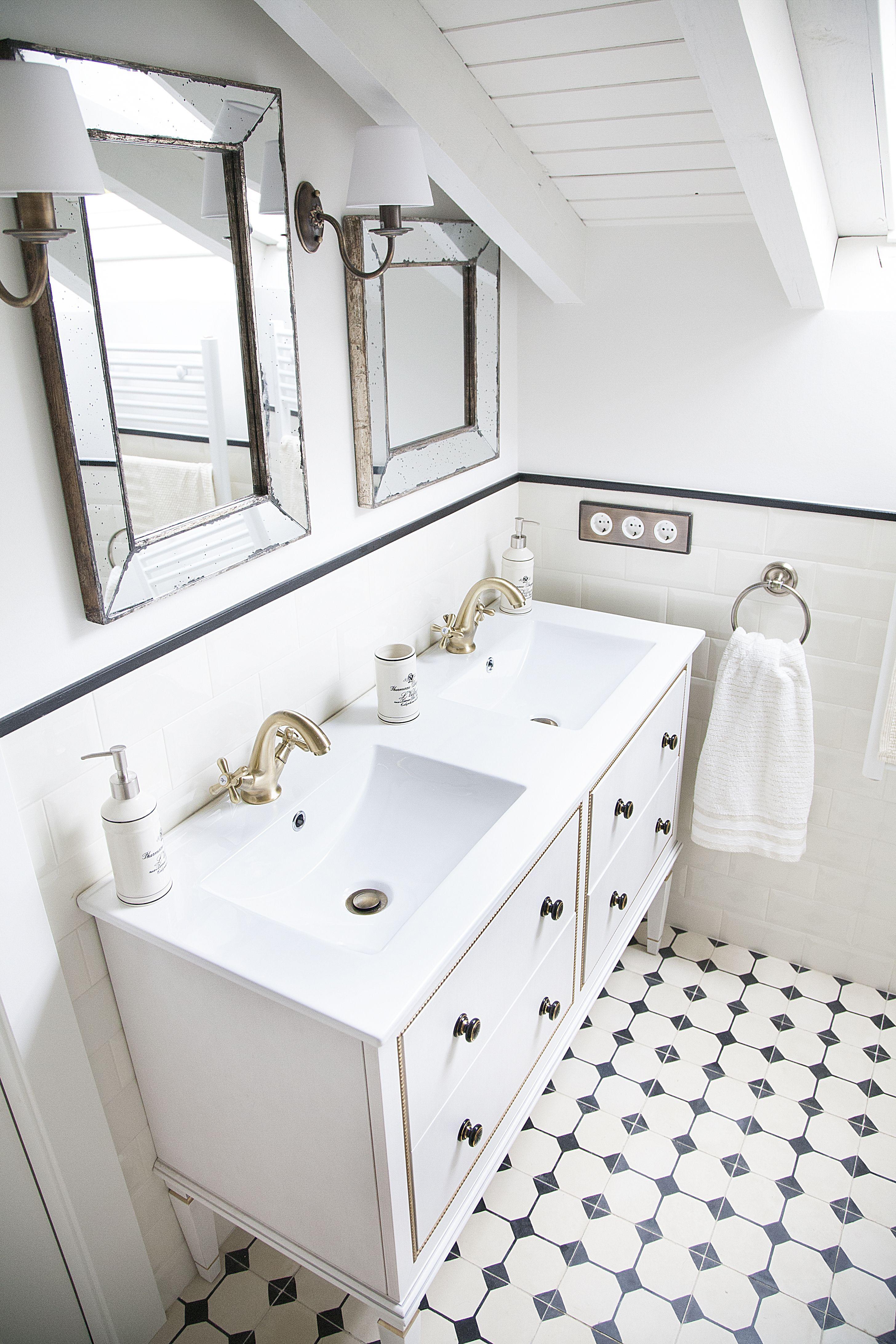 Ba o suelo hidr ulico azulejo metro mi casita en for Azulejo hidraulico bano