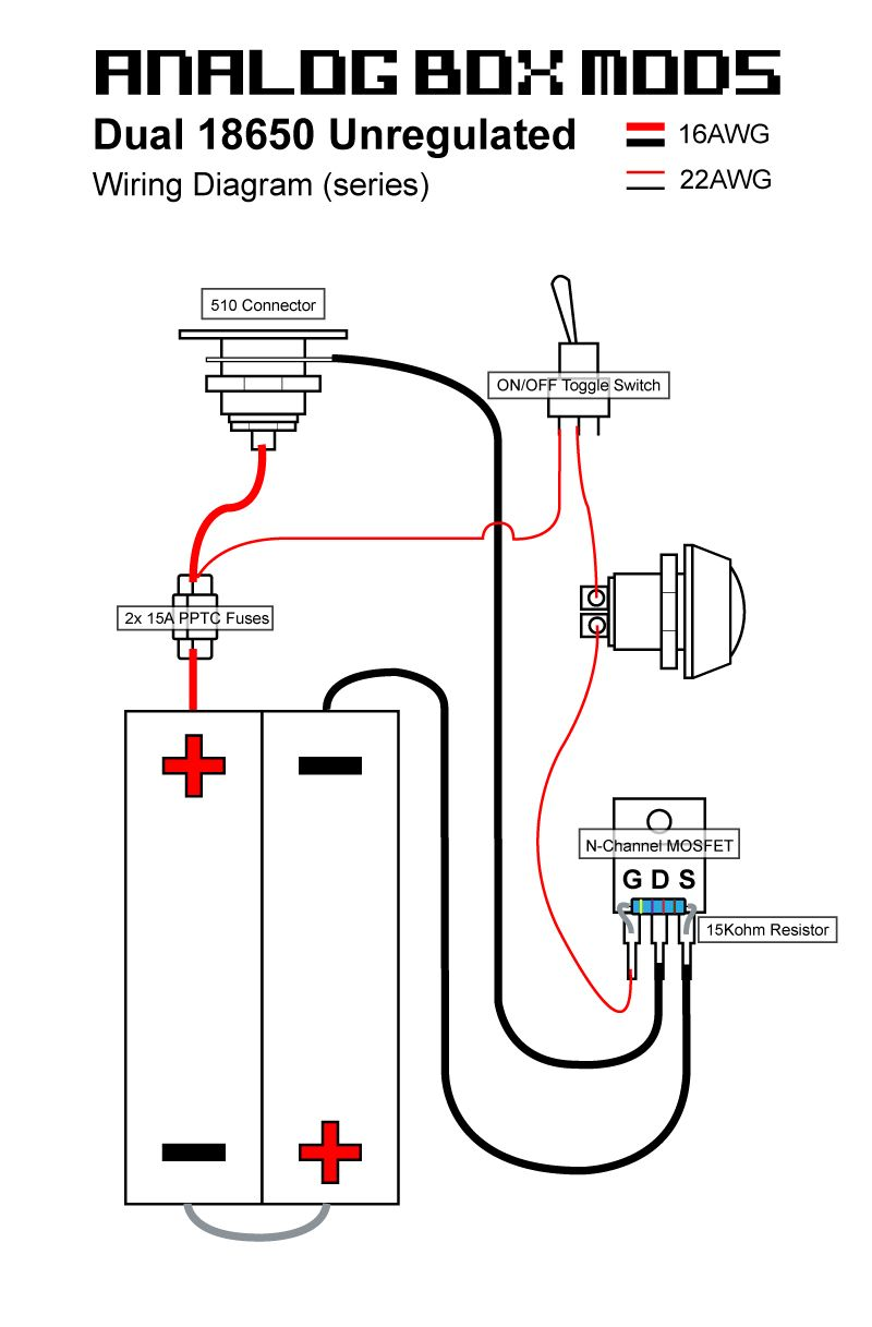 e cig box mod wiring diagram