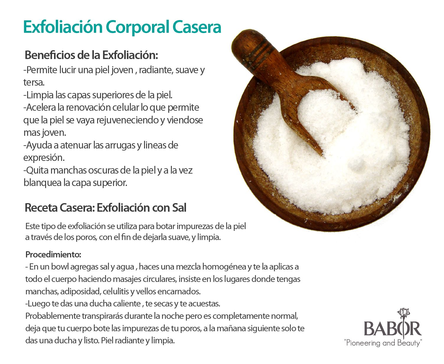 Exfoliación Casera con Sal #cuidadodelapiel #piel #sal