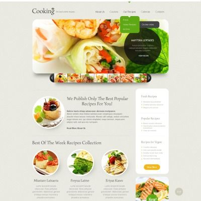 Cooking website template cooking websites cooking and template cooking website template forumfinder Choice Image