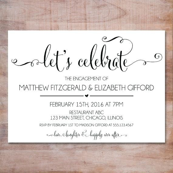 Stunning Engagement Party Invitation Templates Engagement Party