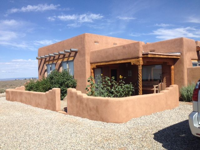Finished adobe house taos pinterest adobe house for Small adobe house plans