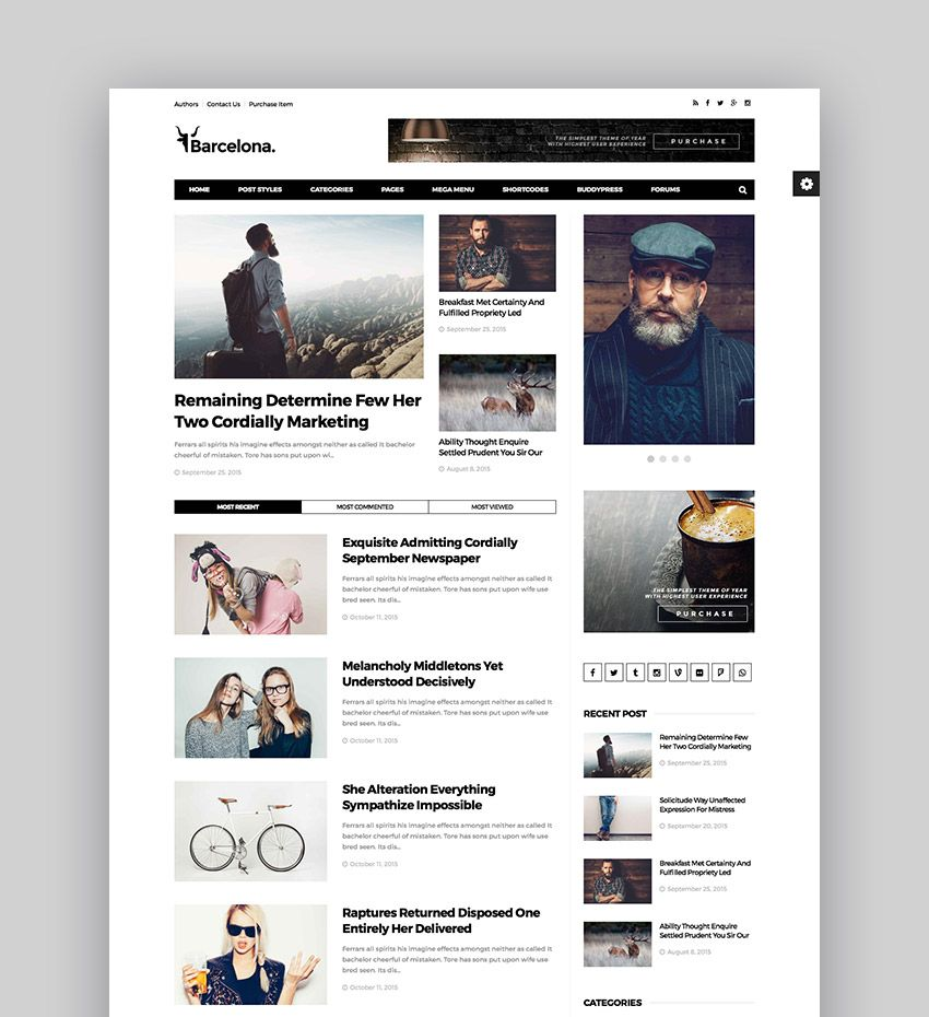 Best Wordpress Magazine Themes For Blog And News Websites Blog Design
