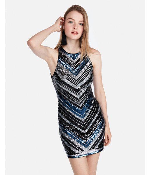 e9e6a751ca06 Sequin Mini Dress Black Women's XXS | Products | Dresses, Sequin ...