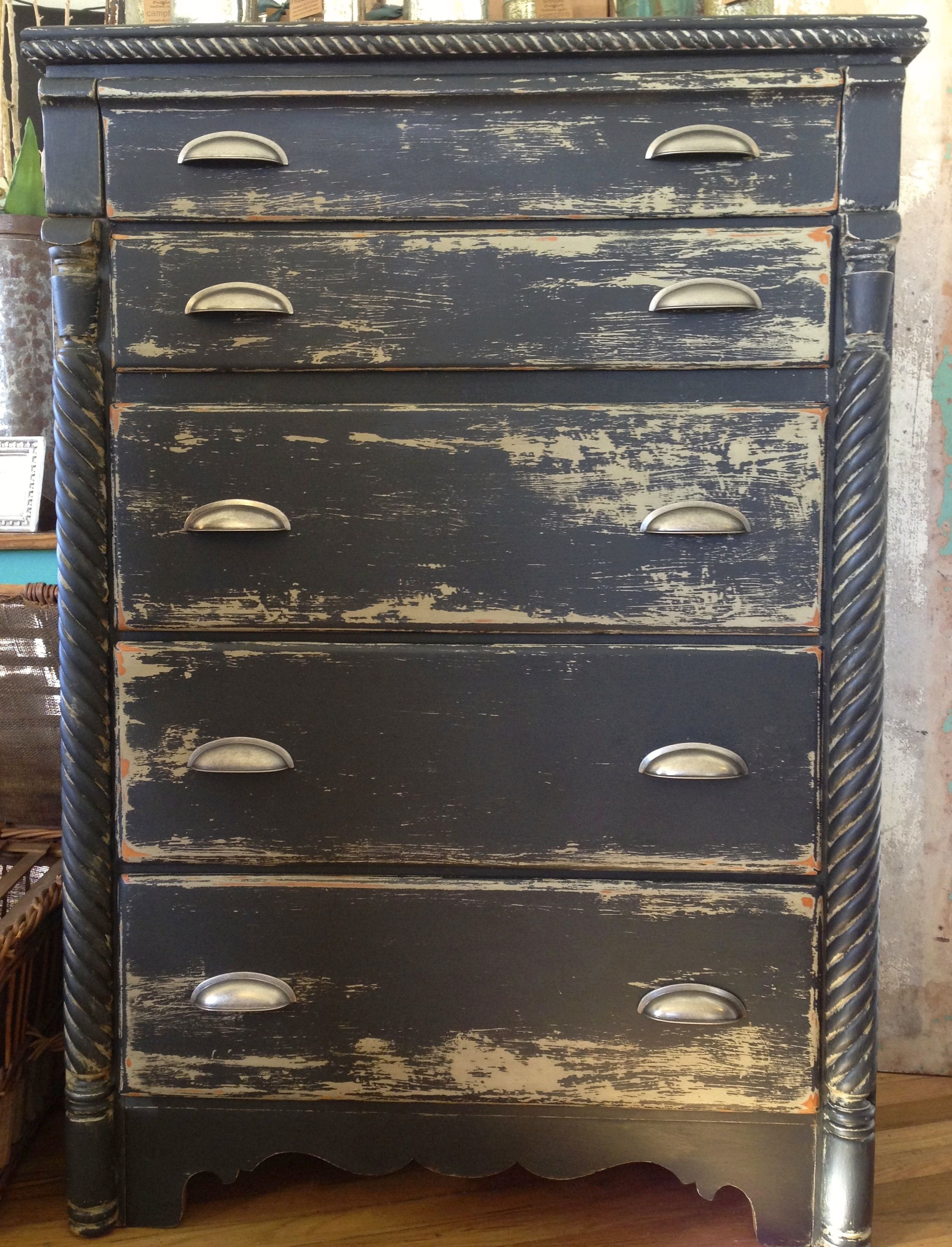 Chest layered in Maison Blanche vintage furniture