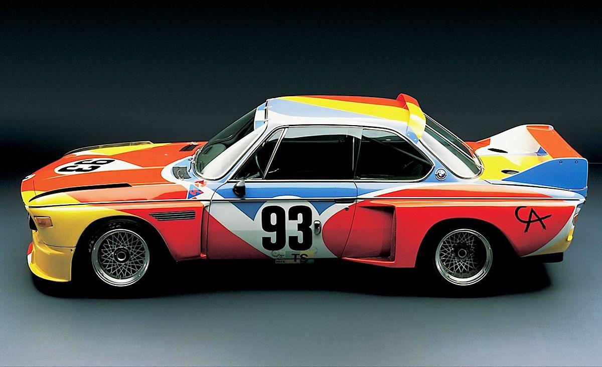 1975 Bmw 3 0 Csl Art Car Painted By Alexander Calder Bmw Art