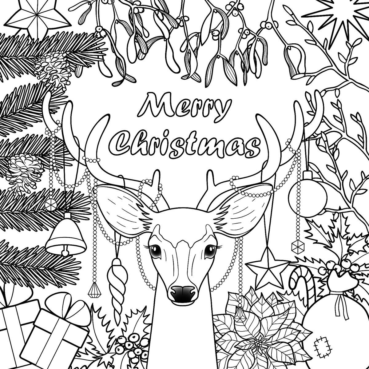 Christmas Coloring Pages Merry christmas coloring pages