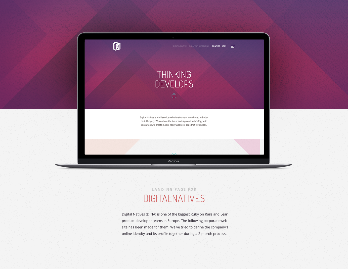 DigitalNatives Landing page on Behance