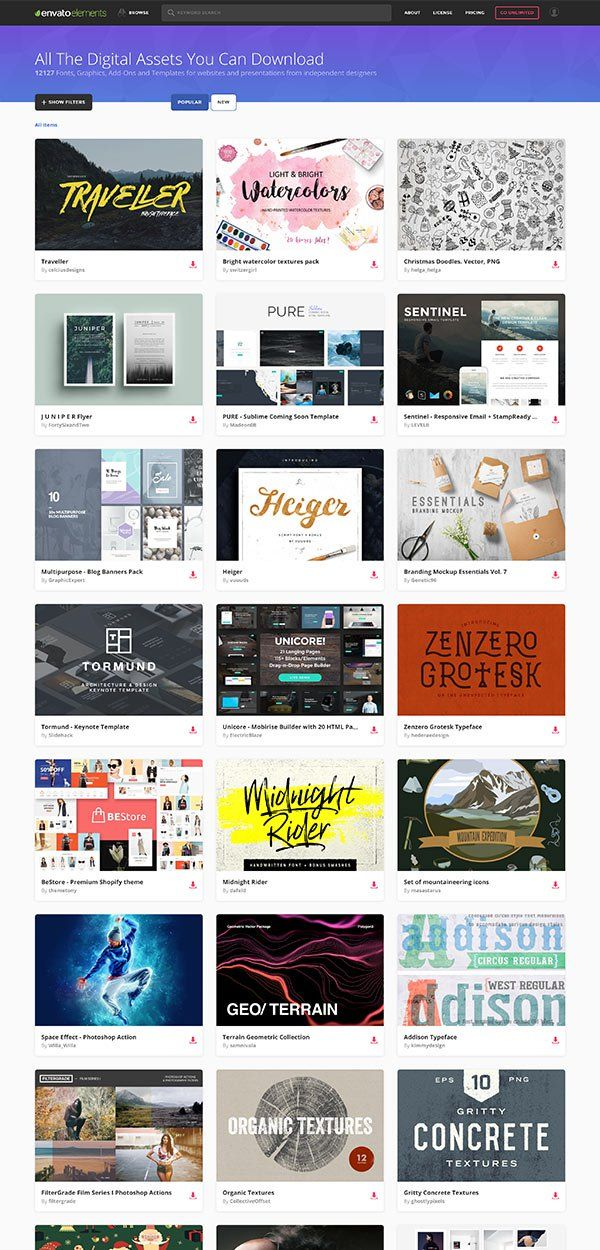 Subscribe to thousands of curated templates, add-ons, fonts