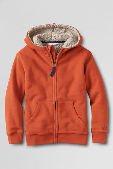 bdc1162b9 Boys' Long Sleeve Fleece Sherpa Hoodie from Lands' End | Cash Jaxon