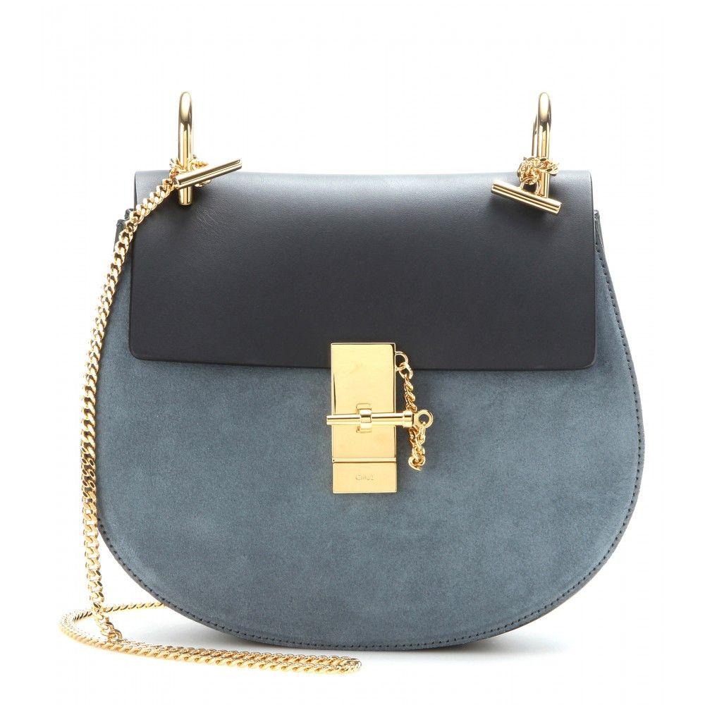 CHLOÉ Drew Shoulder Bag in Pink Suede   Gold  ded9c2a00d