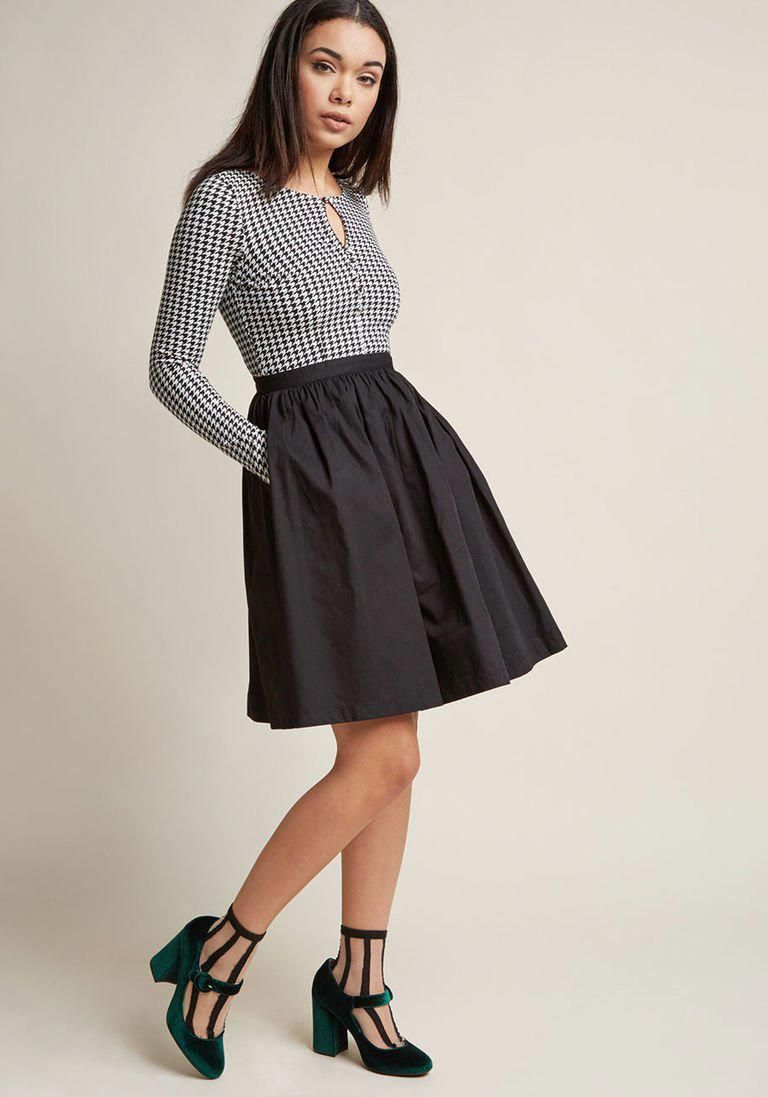 b6aa28351f81 Twice as Timeless Long Sleeve Dress in XL - Twofer Knee Length by ModCloth   fashionforwork