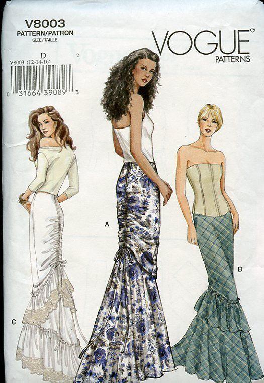 Mermaid Skirt Pattern : mermaid, skirt, pattern, Pattern, Whore:, Vogue