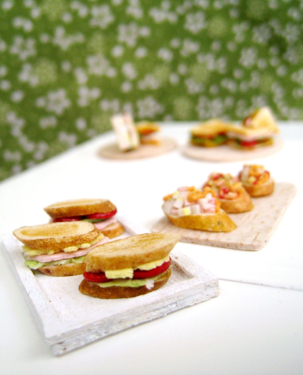 Baguette sandwiches dollhouse miniature by nassae ithilwen