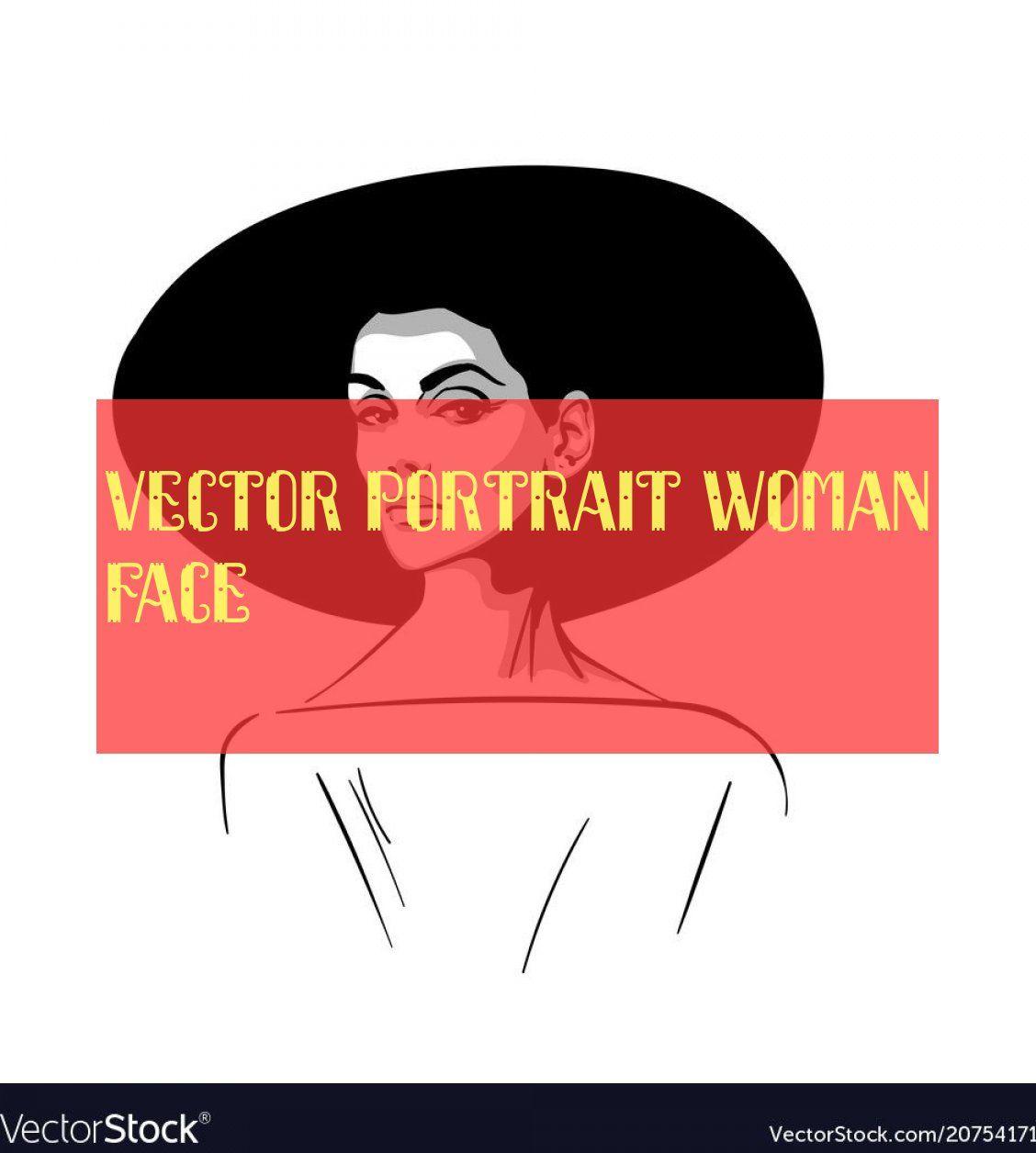 vektor porträt frau gesicht