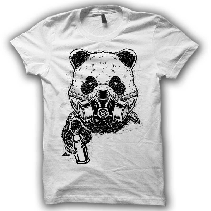 Graffiti Panda T Shirt Clip Art