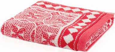 Detailreiche Handtuch Serie »Capri« der Marke möve. Die Linie »Capri« wurde von der italienischen Majolika inspiriert, für die typische Muster und Farben Süditaliens in Jacquardgewebe übersetzt wurden. Die Handtücher und Badetücher bezaubern mit einem geometrischen All-Over-Design in kräftigen Farben.