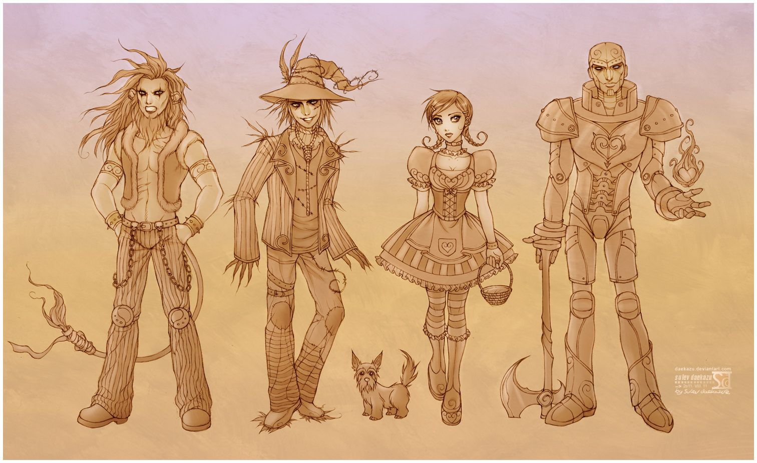 Wonderful Wizard of OZ by daekazu.deviantart.com on @deviantART. Fan art created with Photoshop by daekazu