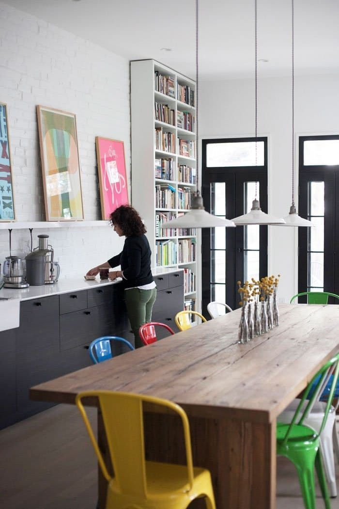 We're Totally Crushing on This Long Kitchen Table - #crushing #kitchen #table ...