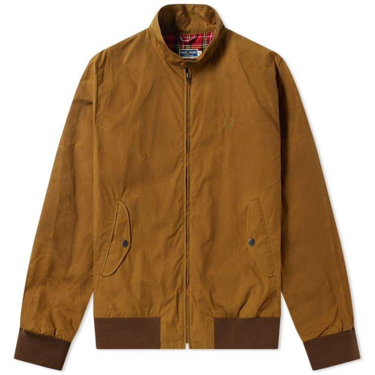 3381e9749 Fred Perry Reissues Made in England Waxed Harrington Jacket Olive ...