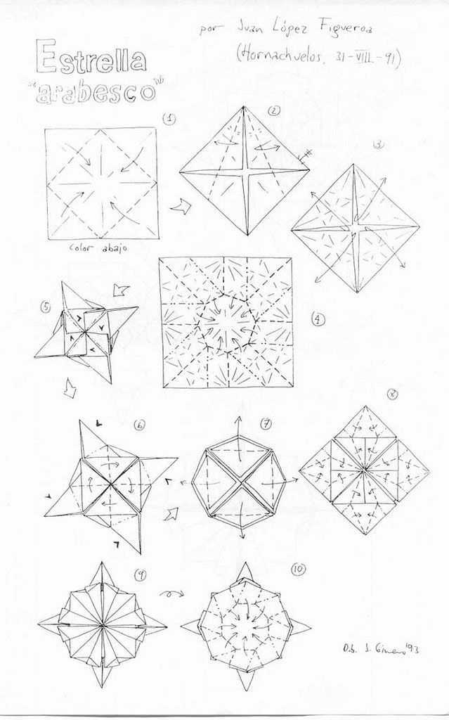 origami mauro diagrammi modelli ospiti