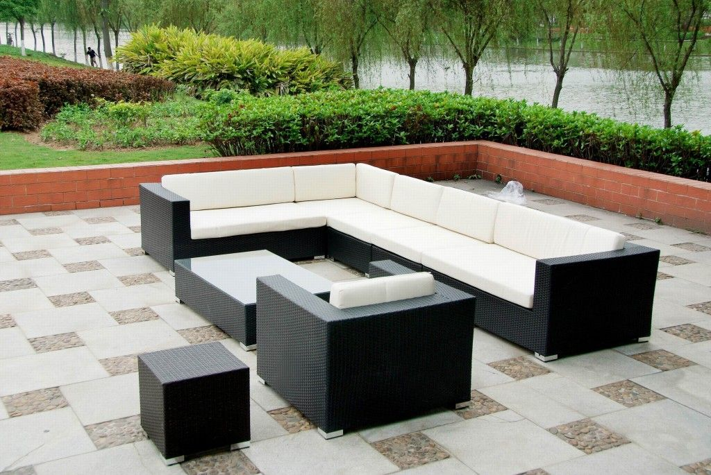 Rattan sofa outdoor  Bondi 8 Seater Wicker Rattan Sofa Lounge :: Outdoor Sofa Lounges ...