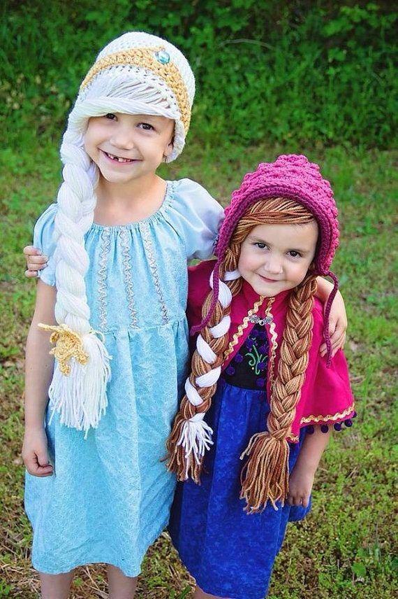 DIY Frozen Elsa and Anna Inspired Crochet Hat Pattern With Braids - Beanie  Hat 26b7cbeff8d