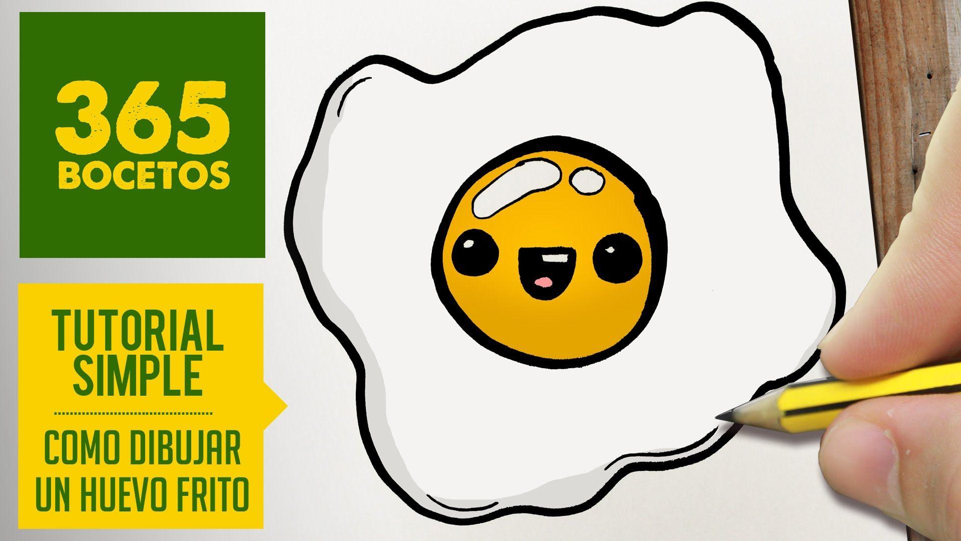 Como Dibujar Un Huevo Frito Kawaii Paso A Paso Dibujos Kawaii