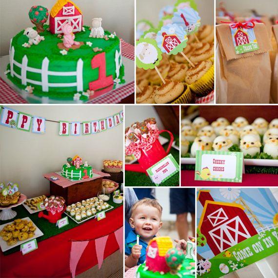"Photo 1 of 10: Farmyard / Birthday ""Farmyard 1st Birthday Party"" | Catch My Party"