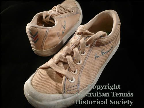 Ken Rosewall Tennis Shoes Graphic - had a pair of these in 8th grade! They