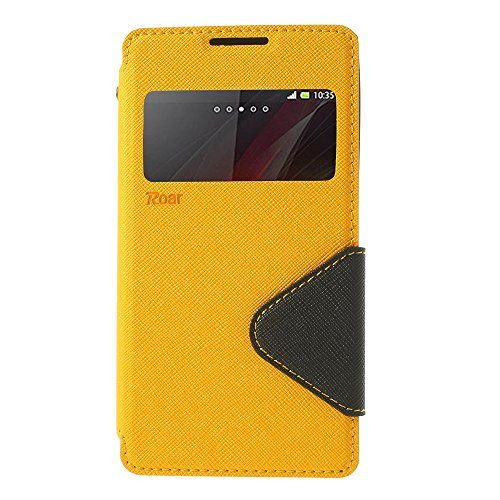 Jujeo Roar Korea Diary View Window Leather Case Cover For Sony Xperia C C2305 S39h - Retail Packaging - Yellow http://www.smartphonebug.com/accessories/top-19-best-sony-xperia-c-cases-and-covers/