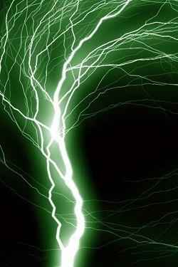 Green Lightning Background Of Green Lightning For Iphone Estetika