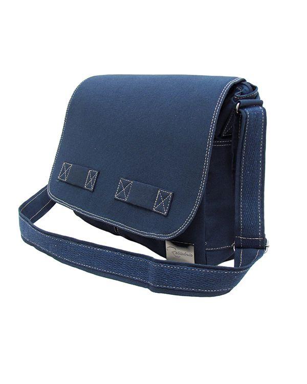577739527 Bolsa Carteiro de Lona Jack - Cor Azul Marinho: Bolsa grande e com muitas  divisórias, o modelo Jack é indicado para quem leva bastante coisa no  dia-a-dia.