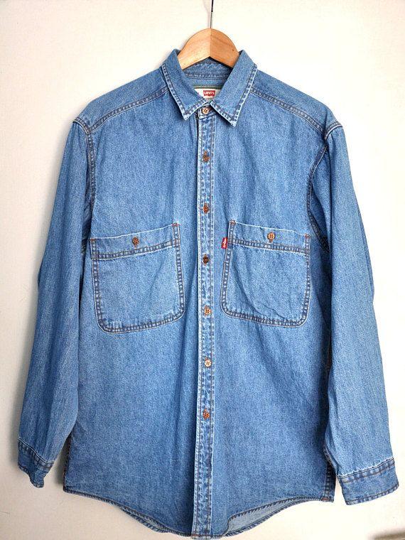 26fe32769d Vintage Levi s denim shirt 90s Levis Jean shirt Long