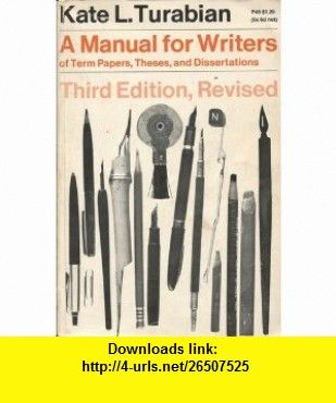 A Manual For Writer Of Term Paper These And Dissertation 3rd Edition Revised Kate L Turabian Asin Vintage Book Cover Dissertations