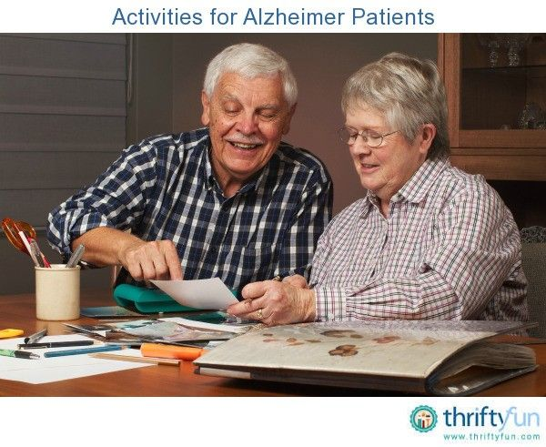 This is a guide about activities for Alzheimer's patients. Alzheimer's and other dementia patients can benefit from and enjoy activities that stimulate their cognitive functions and that are just plain fun.