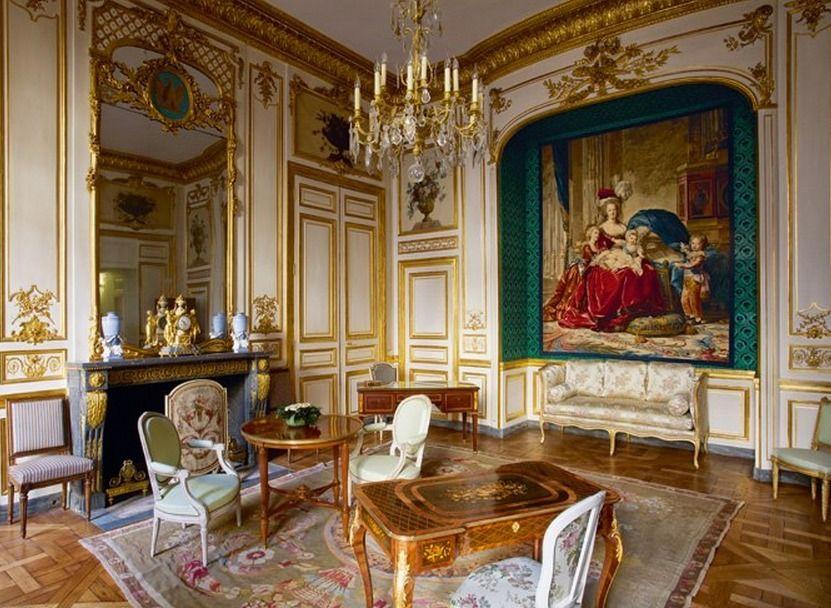 chambre marie antoinette h tel de la marine paris pinterest ch teau hotel particulier et. Black Bedroom Furniture Sets. Home Design Ideas