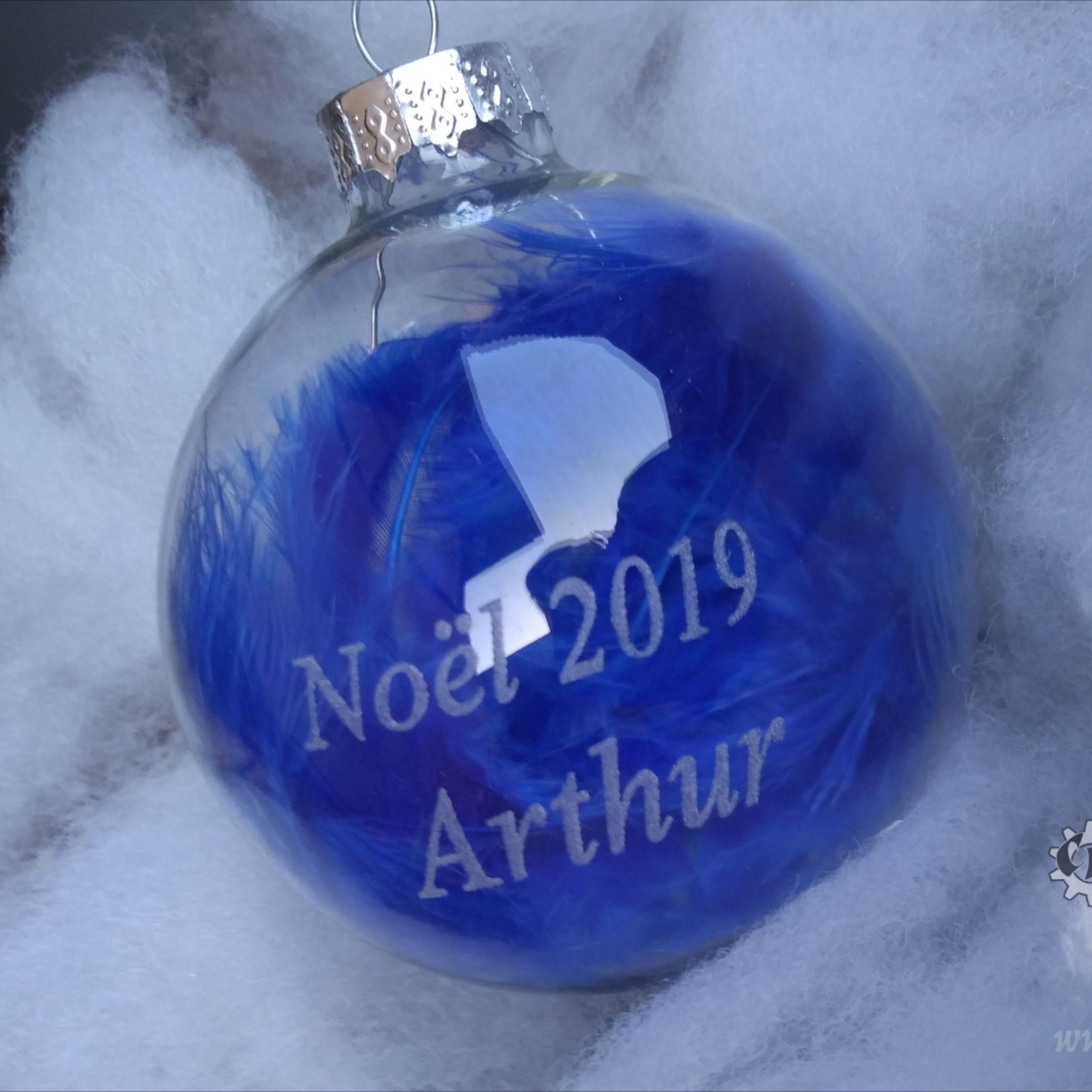 Boule de Noël | Boules de noël en verre, Boule de noel, Gravure