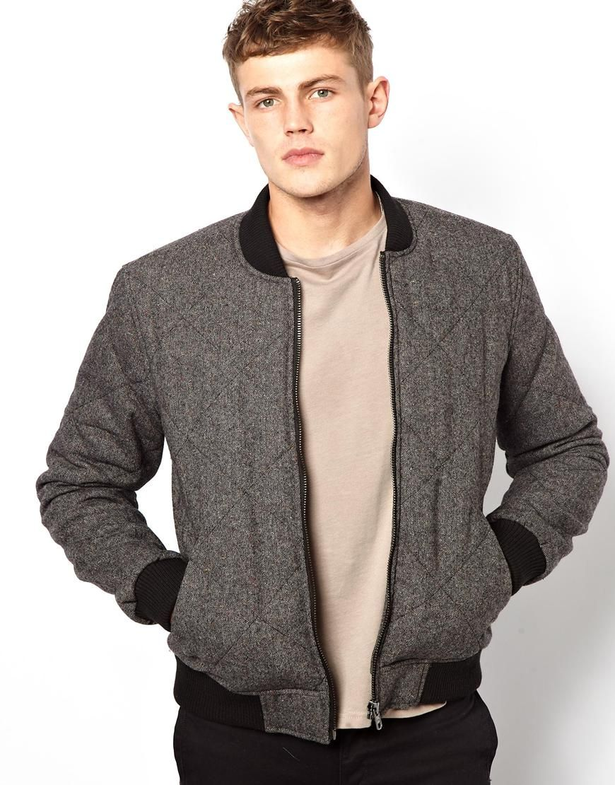 ASOS | ASOS Quilted Wool Bomber Jacket at ASOS | Fly $hit ...