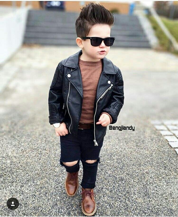 Leather jacket Baby leather jacket, Toddler fashion, Boy