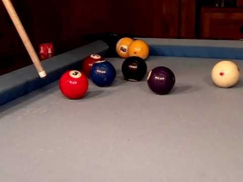 SloMo Masse Shots YouTube Poollearning And Trick Shots - Masse pool table