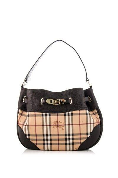 3f59d71fa3e7 -Burberry- Haymarket Medium Willenmore with Buckles  Burberry  Handbags