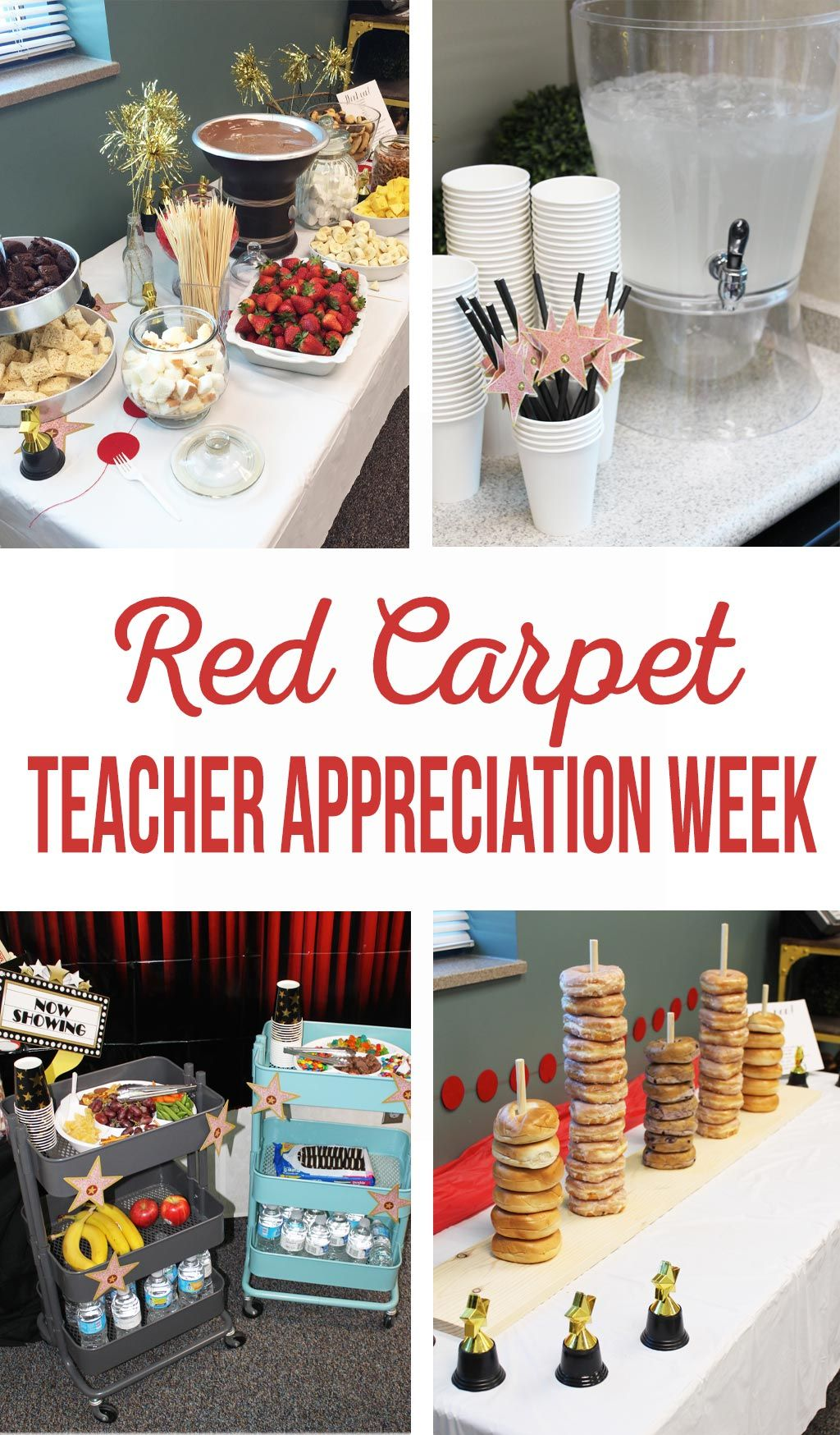red carpet teacher appreciation week | staff gifts | pinterest
