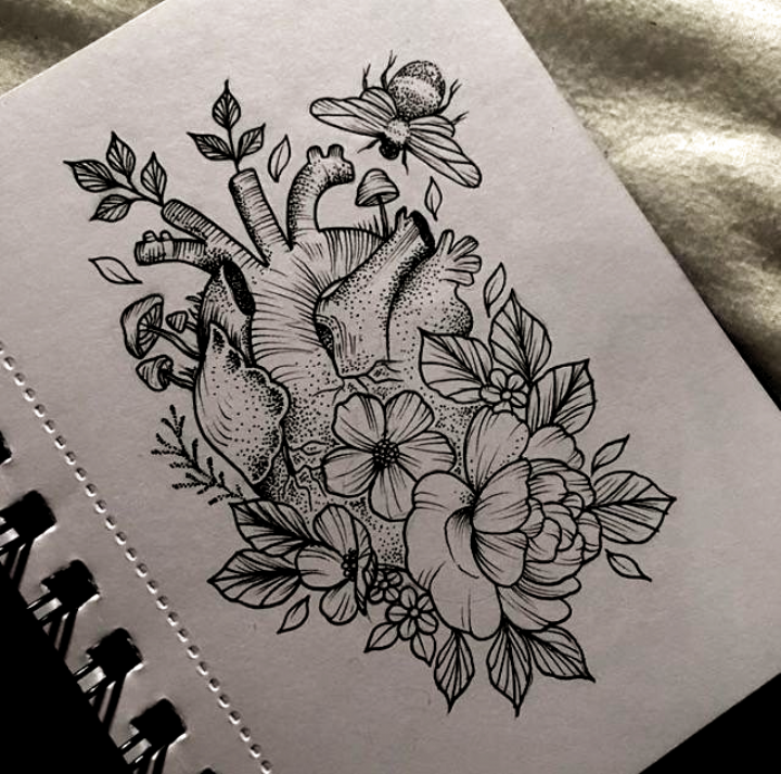 Anatomical Heart Flowers Tattoo By Medusa Lou Tattoo Artist Medusaloux Outlo In 2020 Anatomical Heart Tattoo Tattoos Heart Flower Tattoo