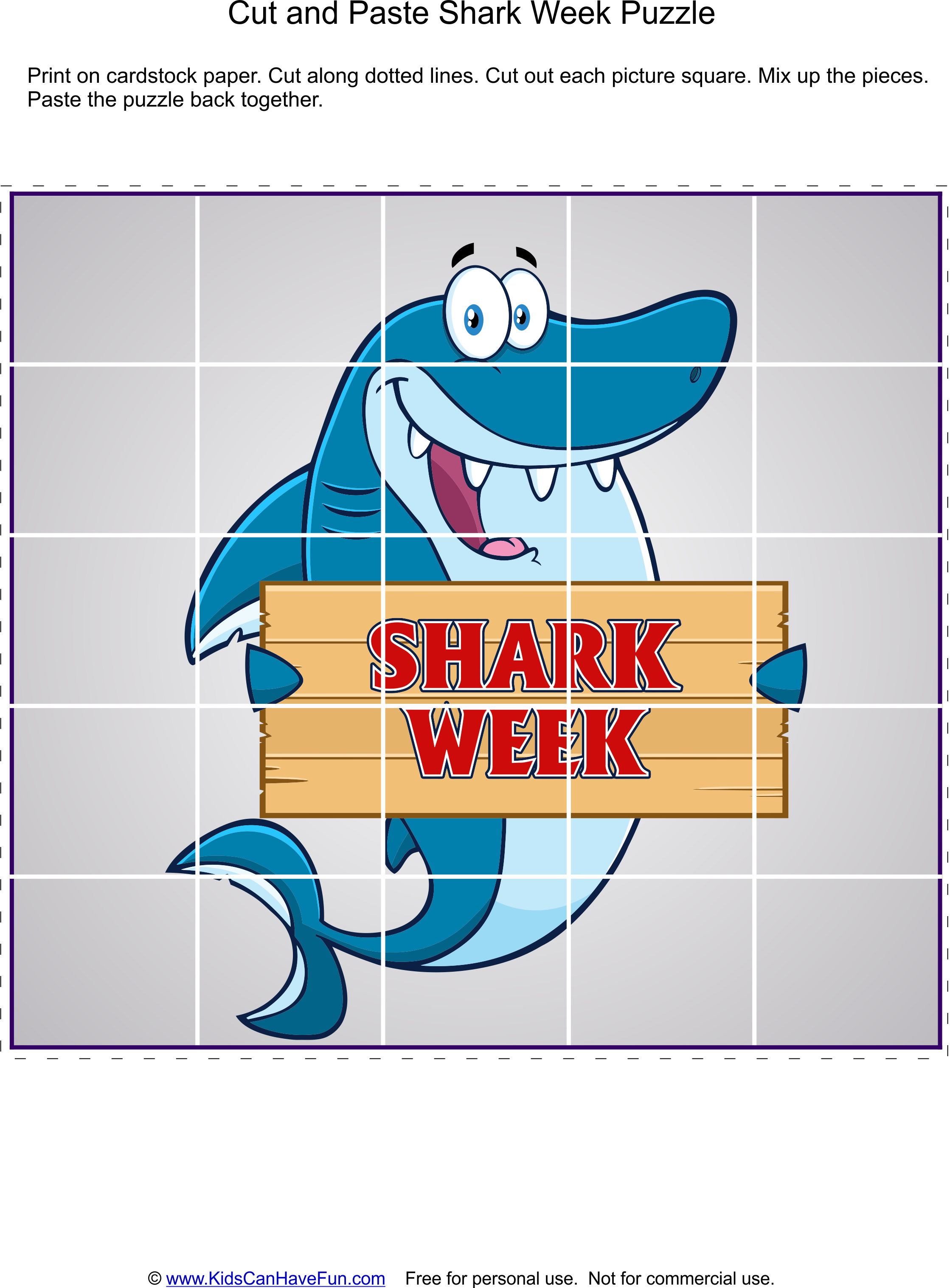 Pin On Shark Week Printables