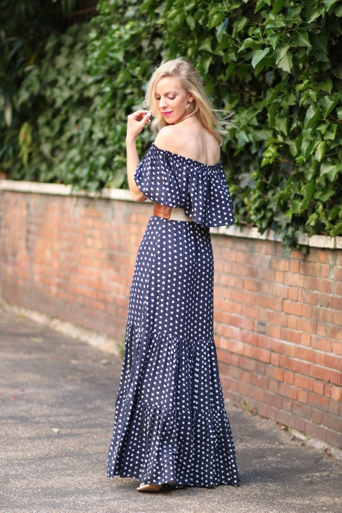 Flynn Skye Bella Off Shoulder Maxi Dress in Poppy Fields Print ...