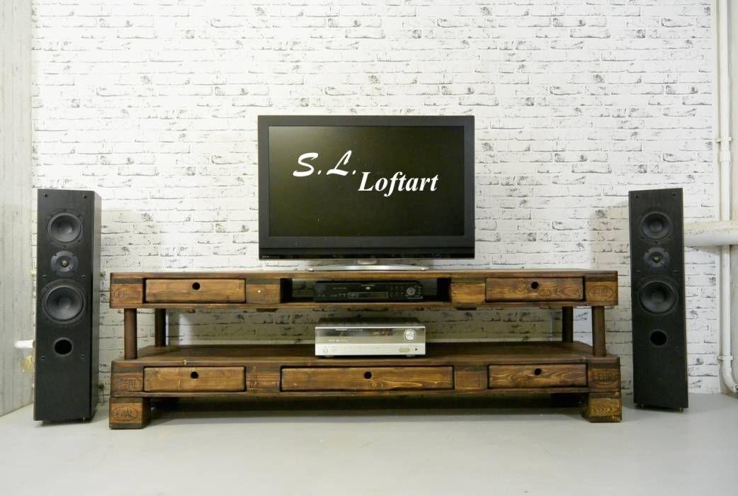 Fernsehschrank aus weinkisten  TV Board / Lowboard aus Weinkisten. * statt 429 | Tv board, Alte ...