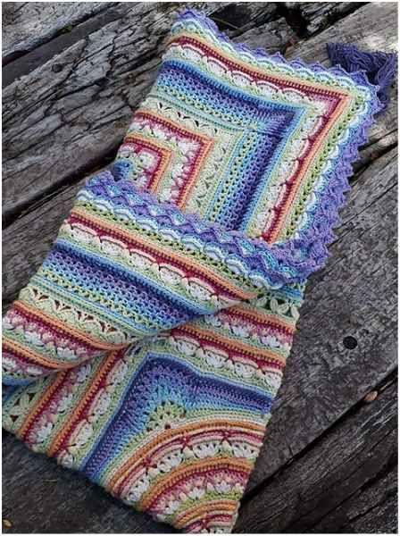 Lilliana Crochet Throw – Free Pattern | Häkeldecke, Häckeln und Decken